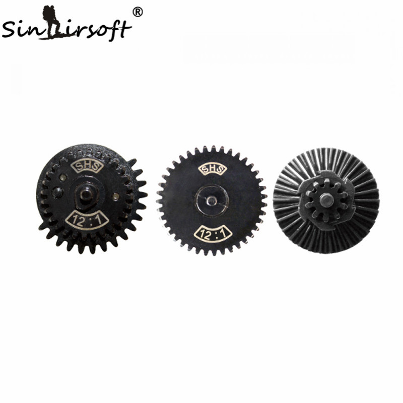 SINAIRSOFT SHS 12:1 Ultra-high speed Gear Set Caza Accesorios para Ver.2/3 Airso