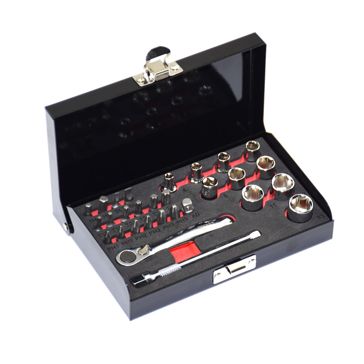 High torque 1/4 ratchet wrench  S2 material bits 28PCS Mini  tools set screwdriver head  bike Repair  hand tools combination 46pcs 1 4 inch high quality socket set car repair tool ratchet set torque wrench combination bit a set of keys chrome vanadium