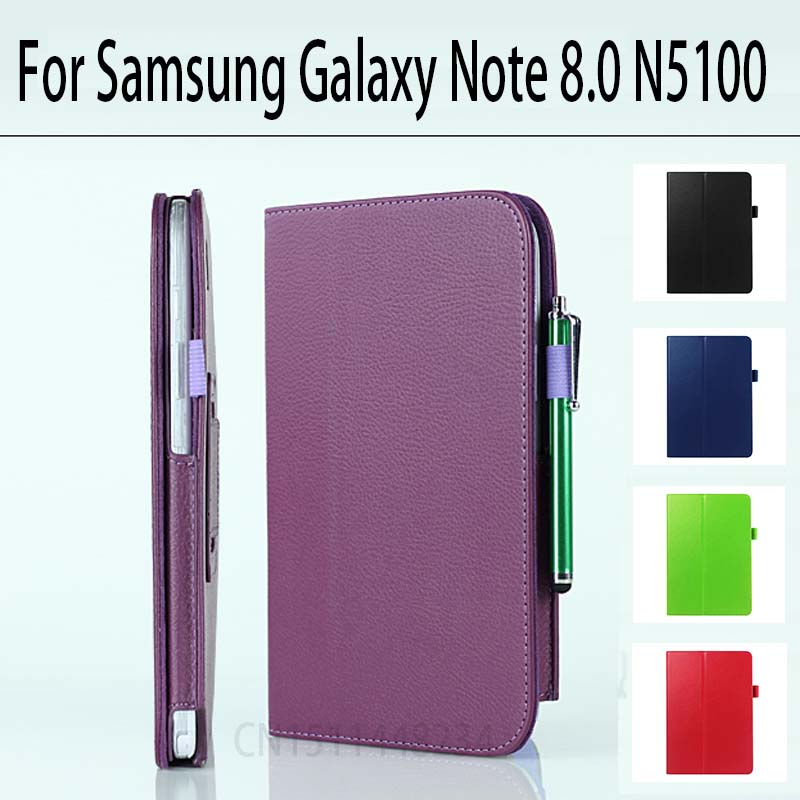 For Samsung Galaxy Note 8.0 GT N5100 N5110 case cover 8 Litchi PU leather stand Tablet Protect the shell / skin 2014 for samsung galaxy note 8 0 n5100 n5110 book cover ultra slim thin business smart pu leather stand folding case