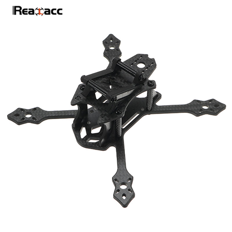 Original Realacc Crow 140mm Wheelbase 4mm Arm X Type Frame Kit For RC Multicopter Models Motors ESC Black alex crow