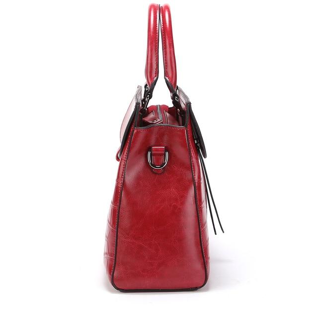 New 2017 ESUFEIR Brand Stone Pattern Women Bag Soft Genuine Leather Women Handbag Fashion Shoulder Bag Femal Top-Handle Bag