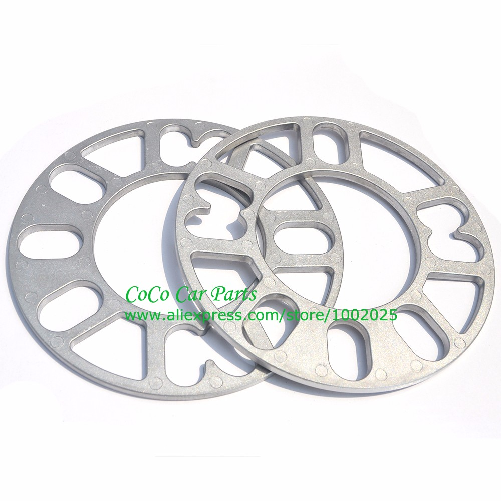 2PCS Universal Alloy Aluminum Wheel Spacer Shims Plate 4 5 STUD 3mm 5mm 8mm 10mm FIT 4x100 4x114.3 5x100 5x108 5x114.3 5x120-in Tire Accessories from Automobiles & Motorcycles