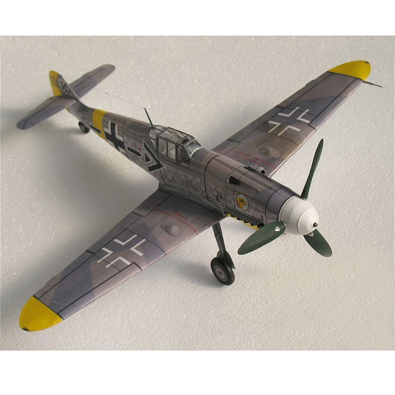 DIY 27cm X 31cm 1:32 Messerschmitt Bf-109 G6/G14/F2,Germany Plane 3D Craft Paper Model Education Toys