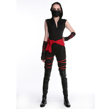 Cheap adult women Skeletons pirate costume halloween party dress up costume shirt vest trouses boot headband Costumes Suits