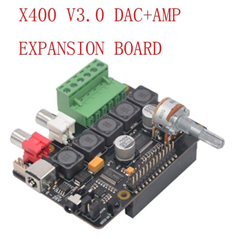 Raspberry pi x400 i2s placa de expansão áudio placa som, módulo dac para raspberry pi 3 modelo b +/3b/pi 2b/b +