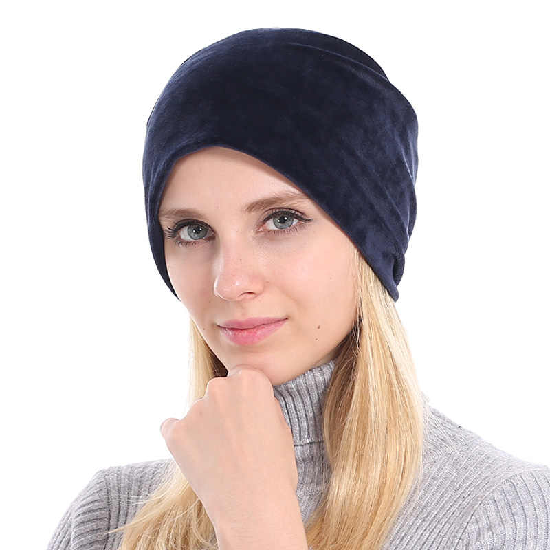 9e17b68b39110 ... YOUBOME Beanie Hat Women Winter Hats For Women Skullies Beanies Baggy  Bonnet Velvet Solid Lady Caps ...