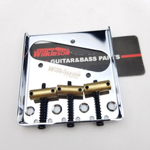 цены Wilkinson 3 Saddle Bridge for Tele Electric Guitar Brass saddles Tele TL Guitar Bridge Chrome Silver WOT01