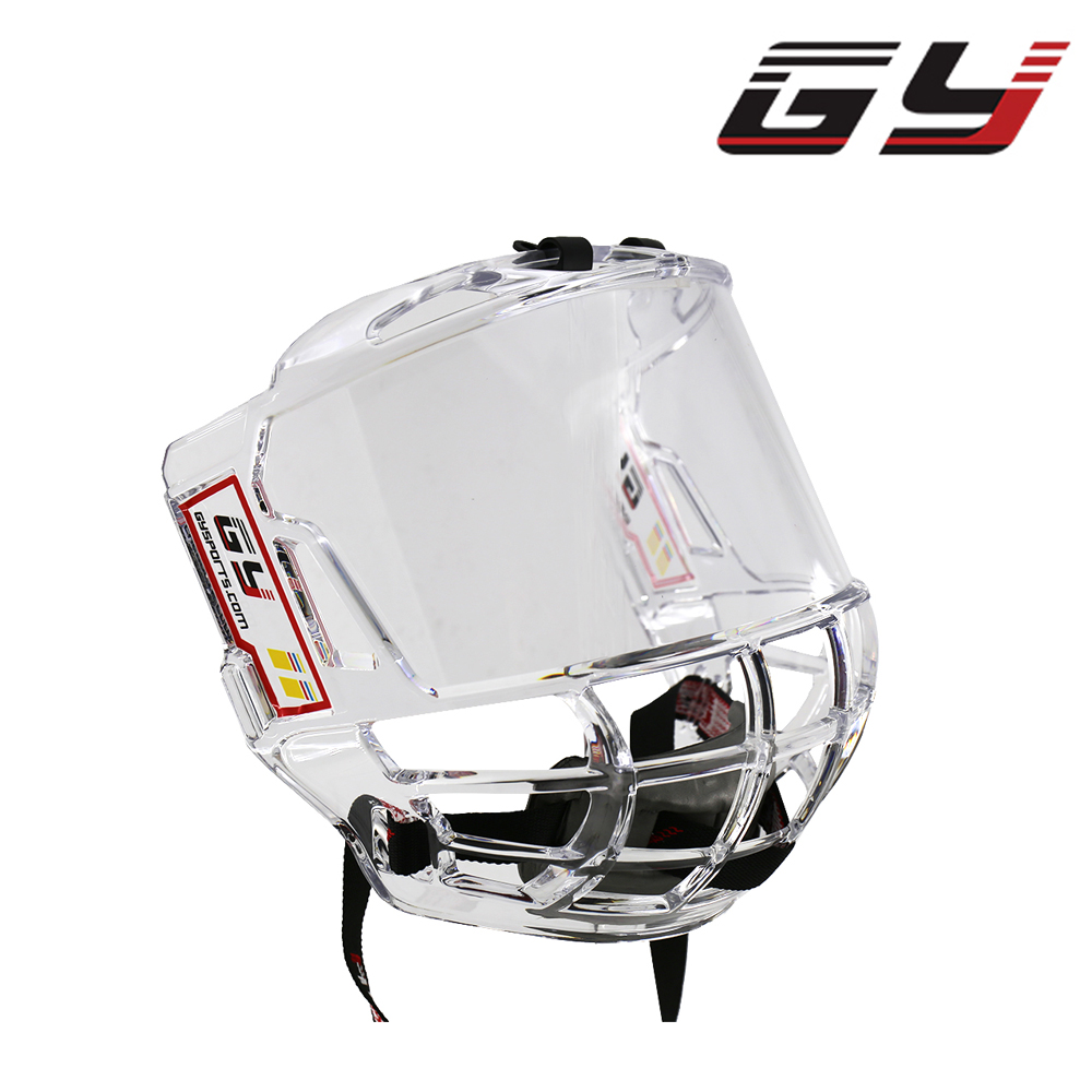 GY SPORTS Direct Sale Store Double Sided Anti Fog Ice Hockey Visor Cage Transparent Great View