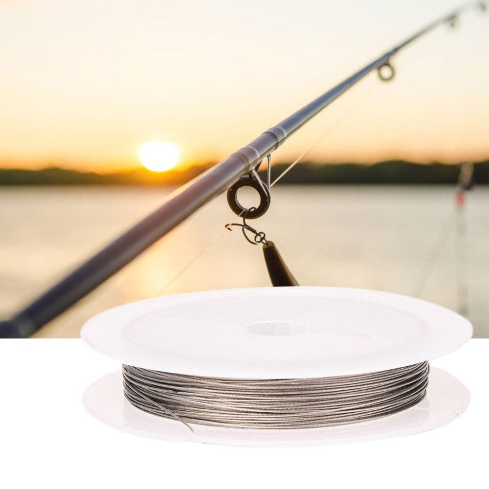 10M Anti-Bite Fishing Trolling Line Stainless Steel Coating Jigging Lead Wire