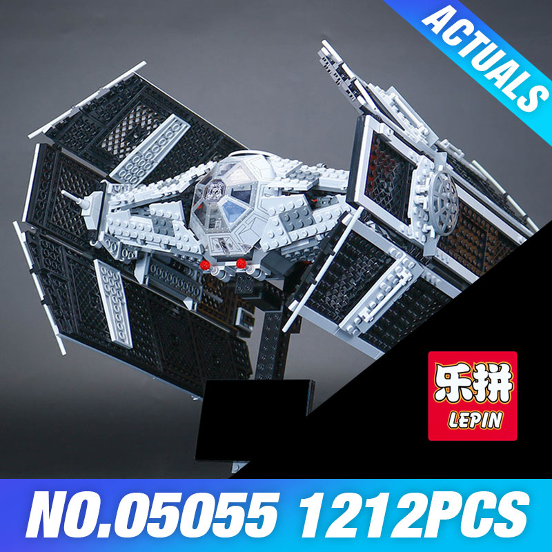 Lepin 05055 Star Series Wars The Rogue One USC Vader TIE Advanced Fighter Set 10175 Building Blocks Bricks Educational DIY Toys lepin 05055 star 1212 pieces the rogue one usc vader tie advanced fighter set 10175 building blocks bricks educational war lp046