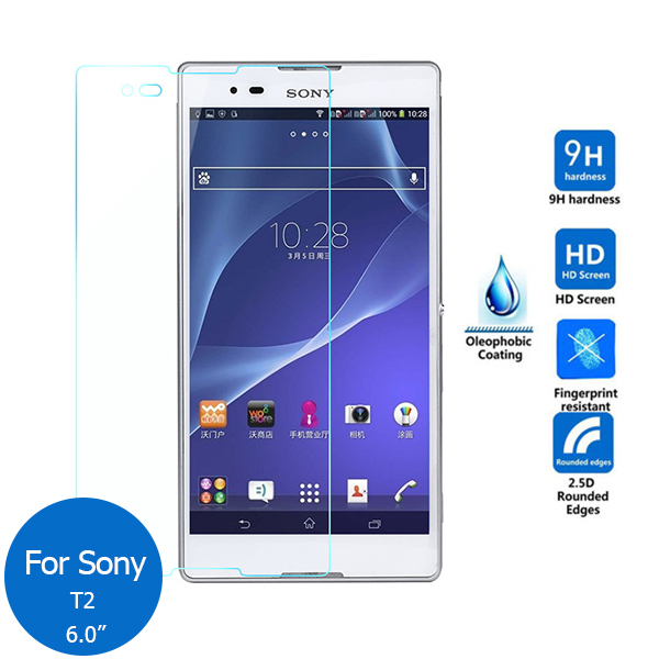 For Sony Xperia T2 Ultra Tempered Glass Screen Protector 2.5 9h Safety Protective Film o ...
