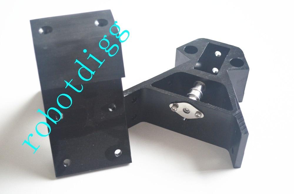 Origineel 3d Printer Onderdelen 2040 Metalen Hoek Alu Vertex Voor Kossel Nema17 Stappenmotor Zwart 2040 Nema17 6 Stks/set