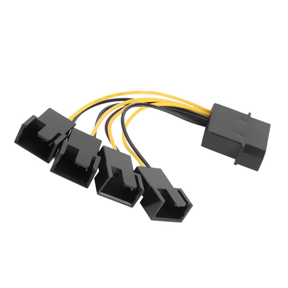5pcs D-Port Computer CPU PC Case Fan Cables 3 Pin Fan Cable 1 to 4 Ways Power Splitter Adapter Extension Cable Connector Pakistan