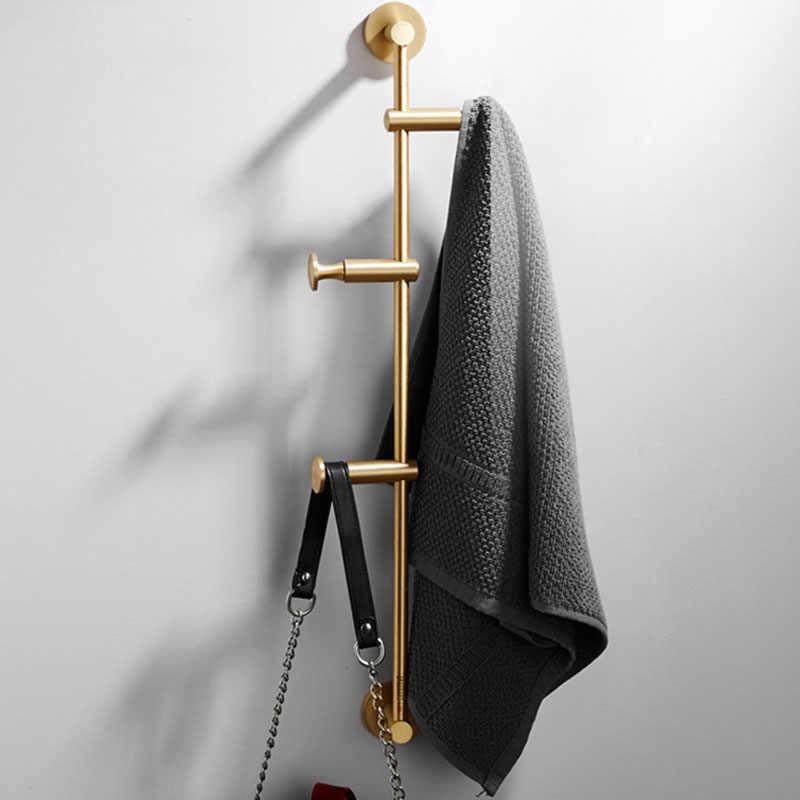 60cm Đồng Tã vải dán Bắc Châu Âu Móc Treo Tường Phòng Ngủ Lưu Trữ Vải Giá Đỡ Miễn Phí Vận Chuyển