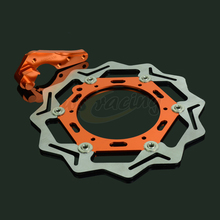 Cheap price CNC 270MM Motorcycle Front Floating Brake Disc & Caliper Bracket Adapter For KTM XC250 XCF250 XCW250 XCFW250 XC300 XCW300 SXF350