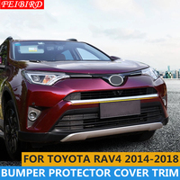 ABS Front Face Lower Bumper Protector Plate Cover Trim 1 Pcs For Toyota RAV4 Rav 4 2014 2015 2016 2017 2018