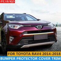 ABS Front Face Lower Bumper Protector Plate Cover Trim 1 Pcs For Toyota RAV4 Rav 4 2014 2015 2016 2017 2018