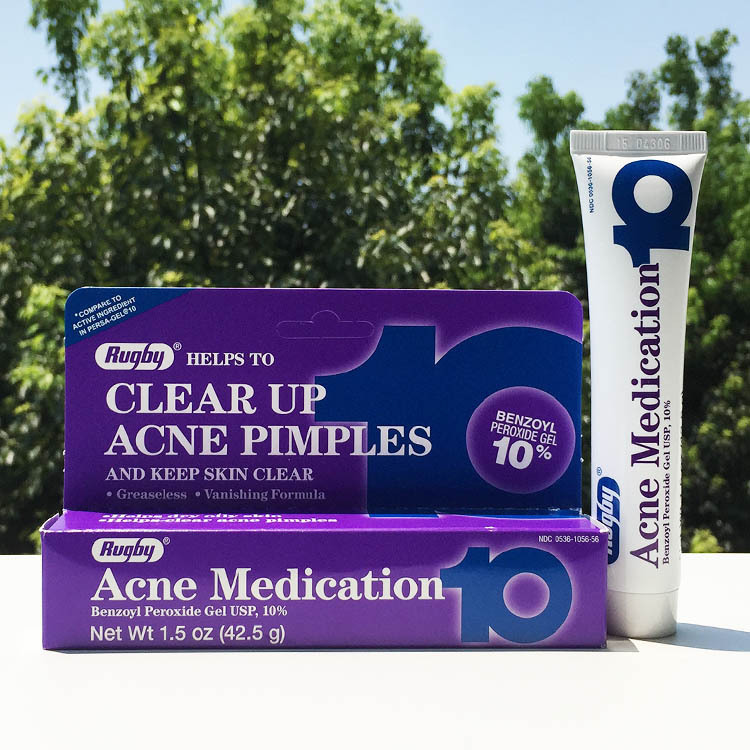 Rugby Acne Medication Helps To Clean Up Acne Pimples And Keep Skin Clear Benzoyl Peroxide Gel 10% Skin Care 42.5g