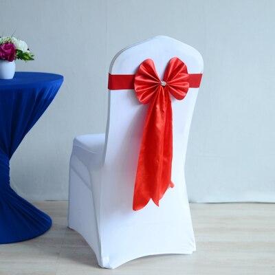 c76587517 اللون الأحمر كرسي شاح طويل الذيل الزفاف فراشة ربطة القوس فيونكة ليكرا  الفرقة تمتد ربطة القوس فيونكة الشريط حفل زفاف الديكور بالجملة