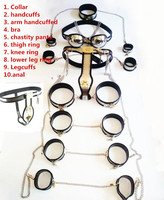chastity belt male 10pcs/set Stainless Steel male chastity belt device sex toys for men handcuffs male chastity belt men