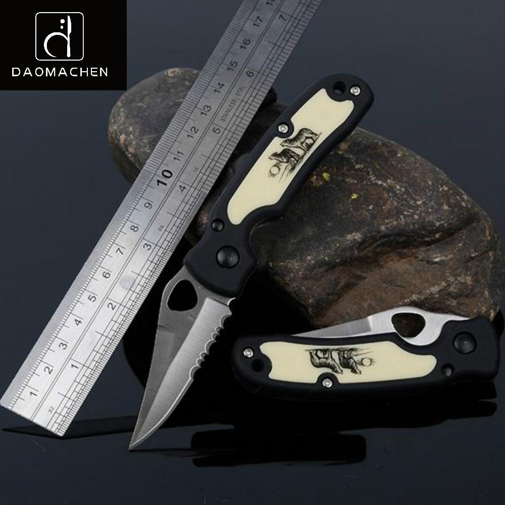 2017 DAOMACHEN Összecsukható kés 440c penge zsebkés kemping túlélési eszközök Vadászati kés Lehajtható kés ingyenes szállítás