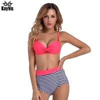 KayVis Sexy Push Up Bikinis Women High Waist Vintage Swimsuit Swimwear Female Brazilian Bikini Set Women