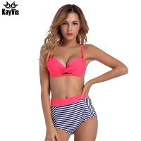 KayVis Sexy Push Up Bikinis Women High Waist Vintage Swimsuit Swimwear Female Brazilian Bikini Set Women