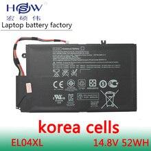 52wh 14.8V Battery for HP EL04XL TPN-C102 HTSNN-UB3R IB3R ENVY 4 681879-1C1 681949-001 HSTNN-IB3R 4-1001