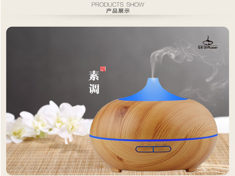 GX01-5,Colorful Ultrasonic Humidifier Essential Oil Diffuser Aroma Lamp Aromatherapy Electric Aroma,Mist Maker,AC100-240 hot sale humidifier aromatherapy essential oil 100 240v 100ml water capacity 20 30 square meters ultrasonic 12w 13 13 9 5cm