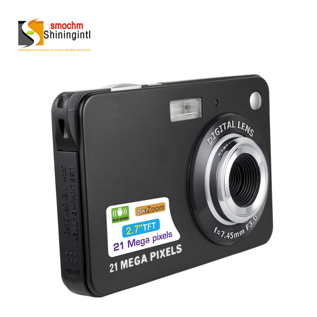 Smochm 21M Pixels Portable Colorful Compact HD 8x Zooming Photo Video Record IGBT Digital Mini Camera with JPEG Avi 32G SD card