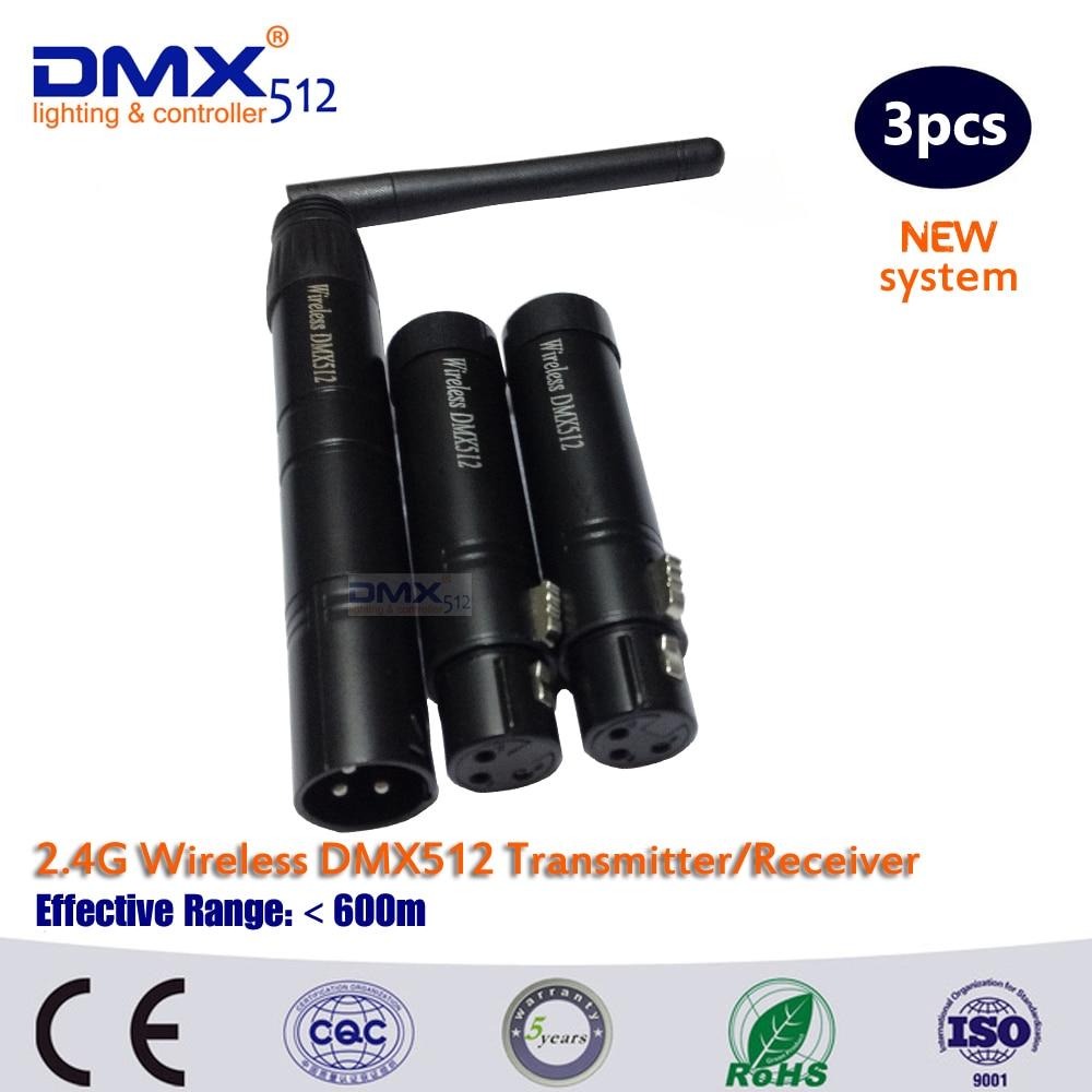 ФОТО DHL Free Shipping Black Metal DMX512 DMX Dfi DJ 2.4G Wireless Receiver with Adapter