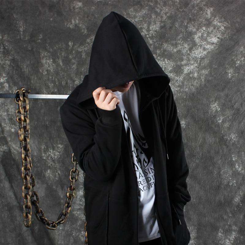 Harajuku guerre Ho Veste À Automne Shirts Rue Hoodies Éclair Surdimensionné Capuchon Hommes bleu Noir Femmes Fermeture Miduo Noir Casual Hiver Unisexe Anti HE5qxwE4