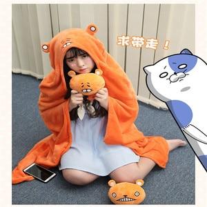 Image 3 - Himouto! Umaru chan Mantello Anime Doma Umaru Cosplay Costume Cape Casa Con Cappuccio Del Capo Coperta di Cartone Morbido Panno Cosplay CS14037