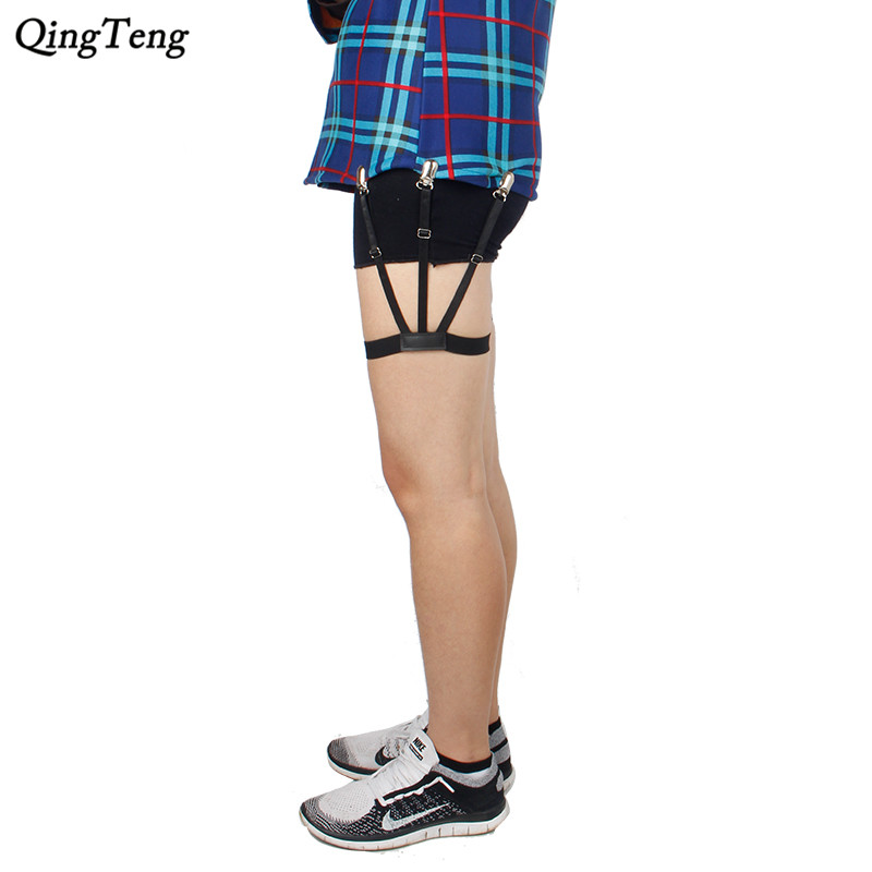 Shirt Suspenders Men Belt Leg Tirantes Hombre Mens Shirt Holder Suspensorio Holders Stays Crease-resistance Adjustable Garters Fashionable In Style;