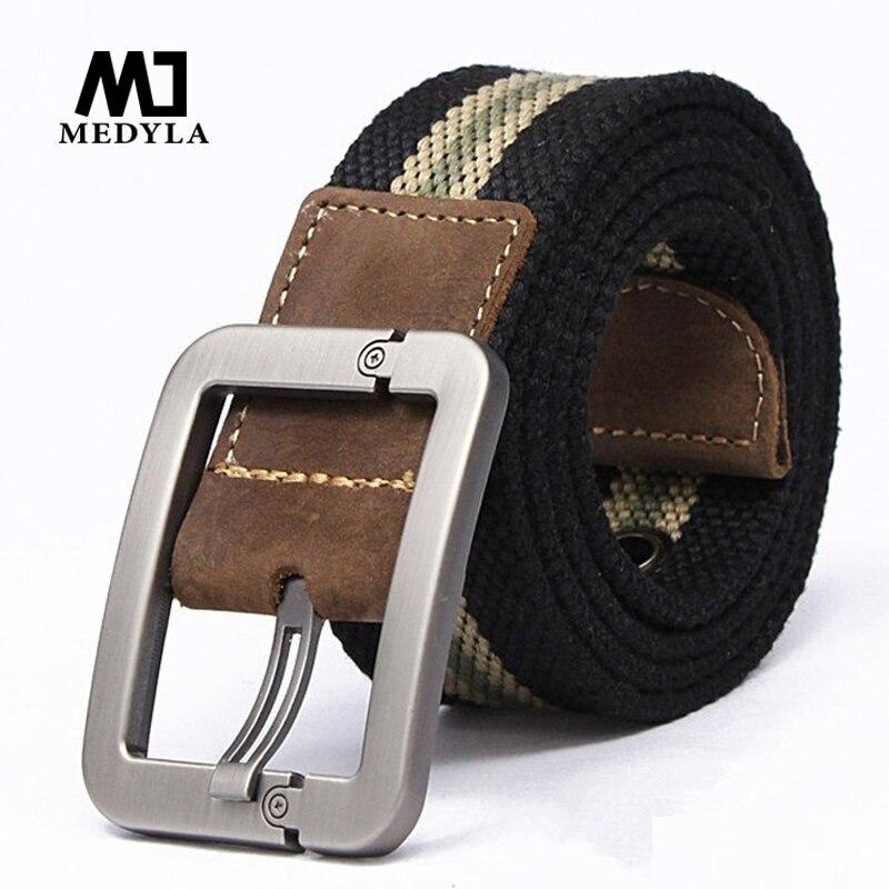 Men Belt 2017 New Fashion Unisex Army Tactical Waist Belt Jeans Male Casual Luxury Canvas Webbing