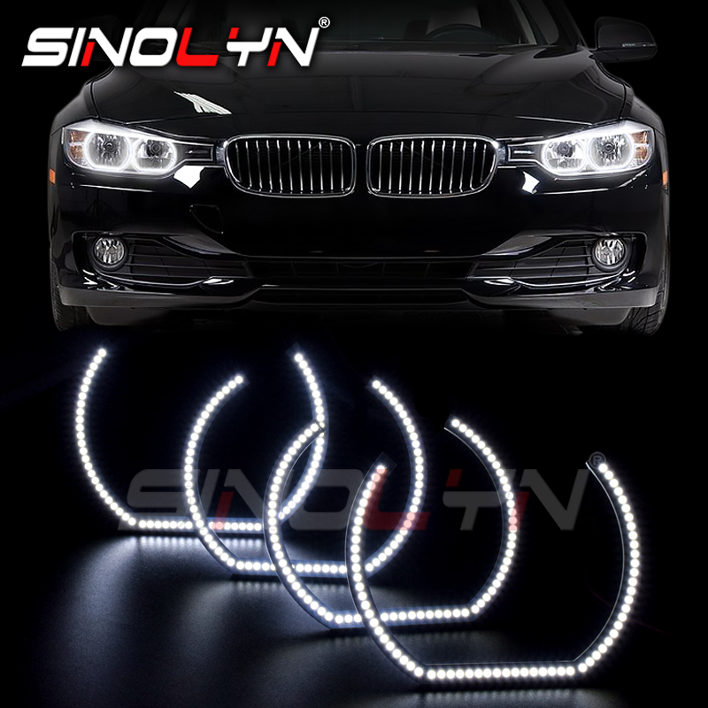 SMD LED Ange Yeux Phare Bague Halo DRL Pour BMW 3 5 Série E90 E60 F30 E87 E92 E82 F31 M5 E82 M3 M4 Accessoires Style Tuning