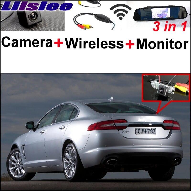 Liislee miroir moniteur facile bricolage système de stationnement de secours pour Jaguar XJ X351 + 3 in1 caméra de vue arrière spéciale + récepteur sans fil