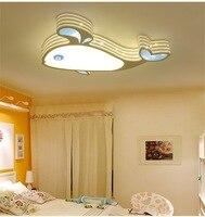 Мультфильм Детская кровать Потолочные светильники лампа защиты глаз LED Дельфин небольшой Рыба Кит потолочный светильник триколор свет lu628