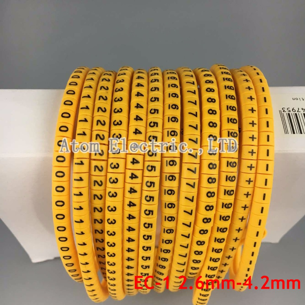 EC 0 Kabel Marker Brief 0 bis 9 + X 600 STÜCKE (Each50pcs) für ...