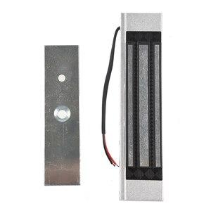 Image 3 - Cerradura electromagnética eléctrica de 12V de una sola puerta 180KG (LB) fuerza de retención para el Control de acceso de plata