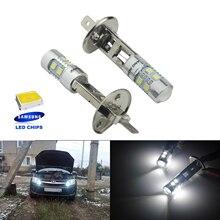 ANGRONG 2X 10W SAMSUNG LED H1 448 Bulbs Headlight High Main Beam Fog Light Lamp 6000k White
