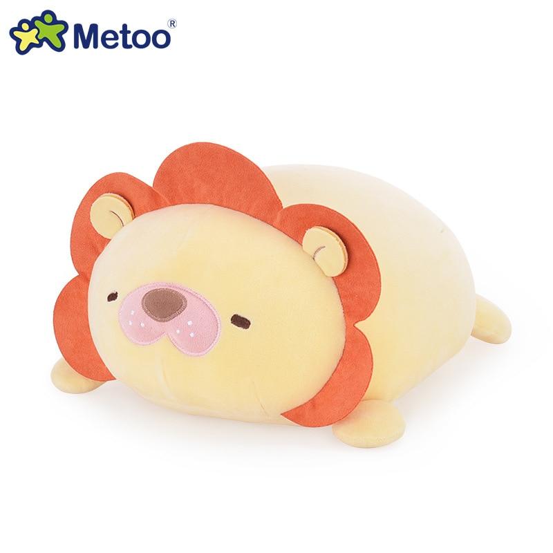34cm Plush Cute Lovely Stuffed Baby Kids Toys for Girls Birthday Christmas Gift Lion Panda Rabbit Bear Cushion Pillow Metoo Doll