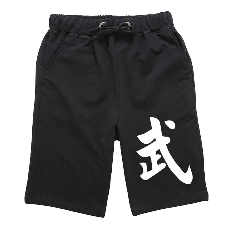 Summer Mens' 4 Color Kungfu Boxing Shorts Cotton Martial Arts Trousers Sport Fitness Pants