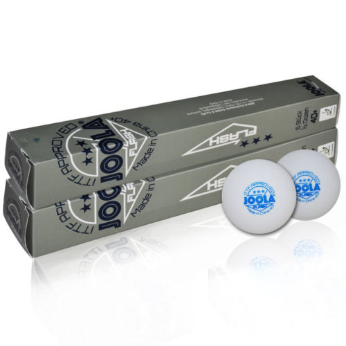 12 Bolas lote JOOLA 3-Star Ténis De Mesa Bolas Sem Costura 40 + Novo  Material Plástico Poli Branco Ping Pong Balls ITTF Aprovado 0839ecf503