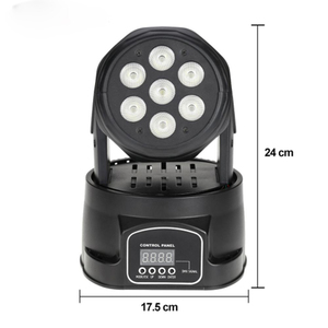 Image 2 - RGBW moving head strahl licht 7*10 watt disco musik steuerung lampe DMX dj par ausrüstung party lichter