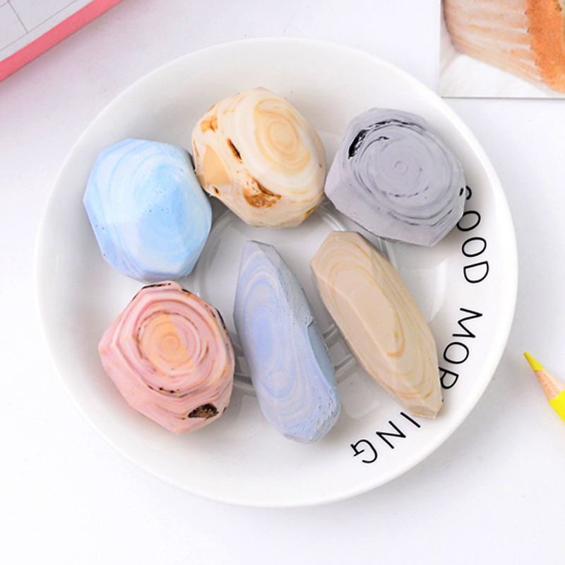 Creative Stone Rubber Eraser Soft Durable Flexible Erasers For Kids Office School Supplies Stationery Student Gift