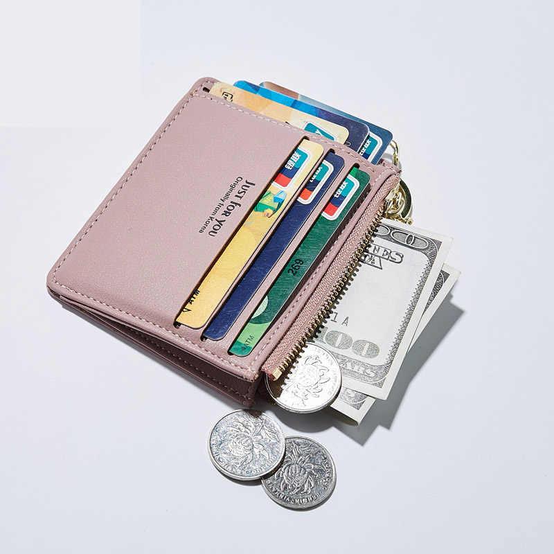 SMILEY SUNSHINE cuero Delgado mini carteras y monederos mujer pequeña tarjeta monedero corto señoras monedero bolsa de dinero 2019