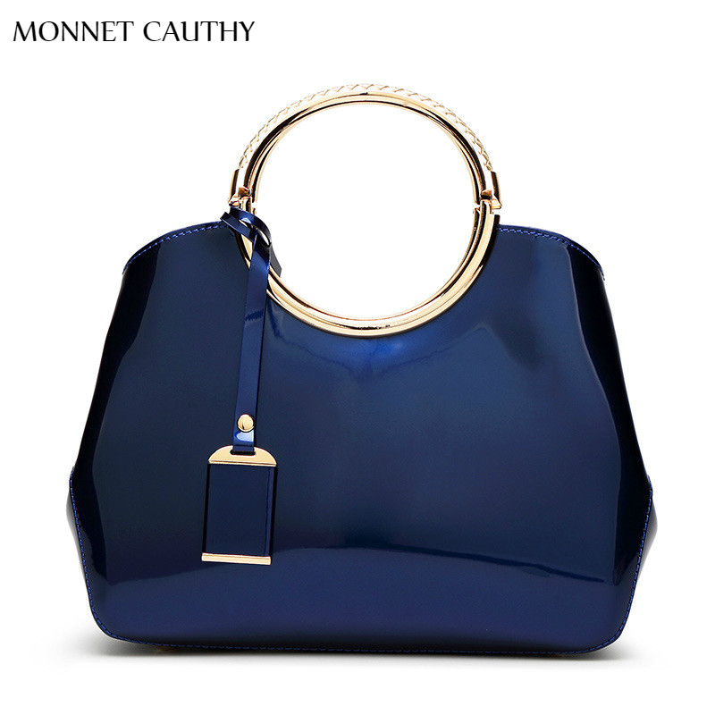 Monnet Cauthy Bags Women Solid Color Navy Blue Pink Wine Red Rose White Black Handbags Elegant Fashion Wedding Party Bride