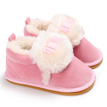 f11b1ed23835 Cukbub Baby Girl Warm Soft Boots Shoes with Anti-slip Soles Infant Children  Winter Soft Booties Pink White Newborn Kid Prewalker