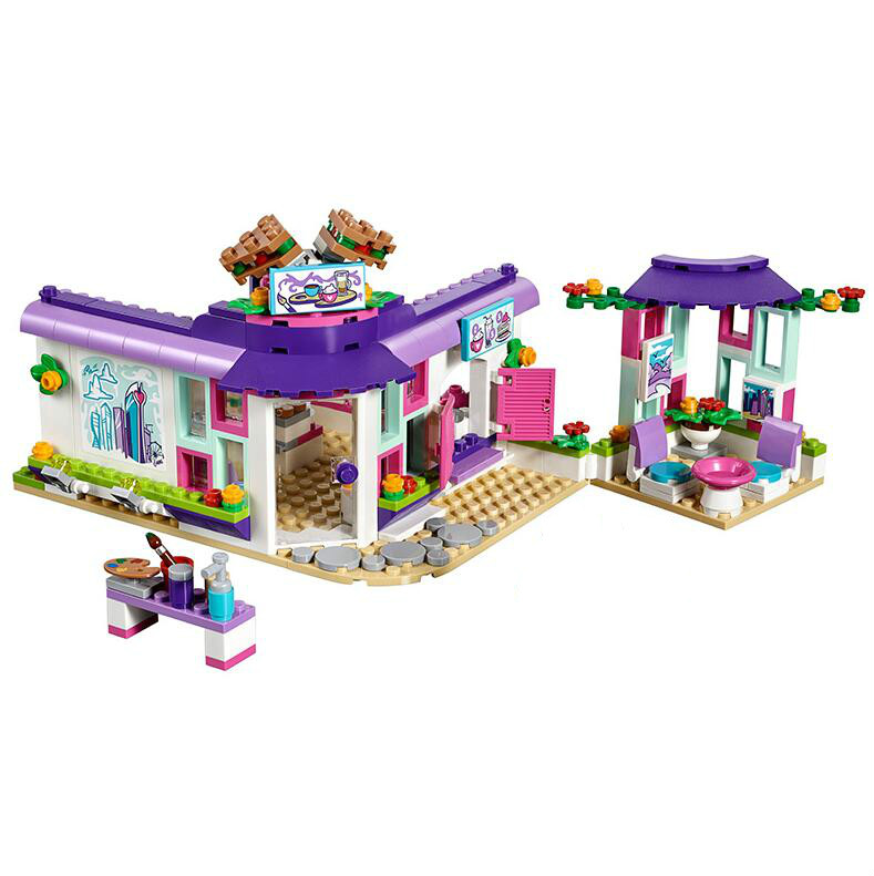 LEPIN Girls Series The 41336 Art Cafe Set Building Blocks LegoINGlys DIY Educational Funny Bricks Toys For Children 01060 hot sale 1000g dynamic amazing diy educational toys no mess indoor magic play sand children toys mars space sand